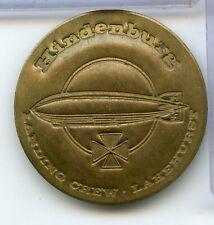Hindenburg Landing Crew Lakehurst Brass Badge Pin - RX234
