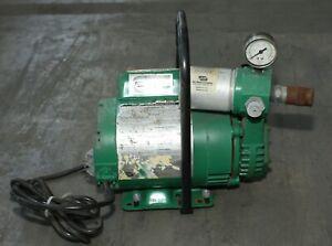 Bullard Model EDP10 Free-Air Pump Compressor  CFM at 10 psig 115 volt 1-2 users