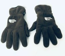 The North Face Gloves Unisex Fleece Brown Winter Size Medium Snow
