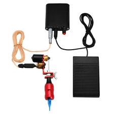 Komplettes Tattoo-Set Set Rotationsmaschine Power Fußpedal Nadeln Red Eu