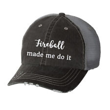 Fireball Made Me Do It Glitter Ladies Trucker Hat - Country South