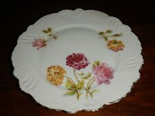 "Silesien Rose Pattern Porcelain Plate 8"" Diameter Germany"