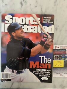 Mike Piazza Los Angeles Dodgers Signed Sports Illustrated  No label  JSA
