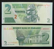 Zimbabwe Banknote 2 Dollars 2016 Unc