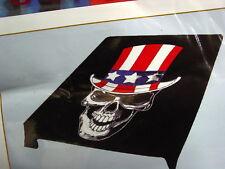SKULL USA AMERICAN FLAG HAT QUEEN SIZE BLANKET
