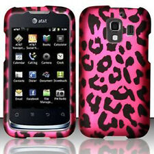 For Huawei AT&T Fusion 2 Rubberized HARD Case Snap Phone Cover Hot Pink Leopard