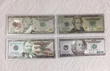 4pcs Dollar Bill Money Patriotic Souvenir Office Door Desk Board Fridge Magnet