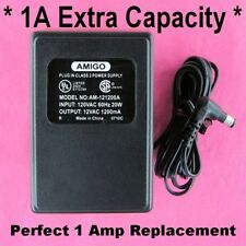 120V to 12 Volt AC 1 Amp Transformer Power Supply Wall Adapter Voltage Converter