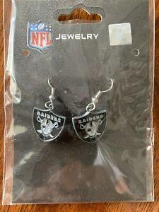 NFL Oakland Raiders Team Logo Earrings by Sisklyou Sports New