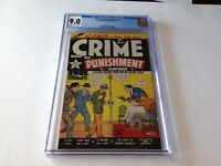 CRIME AND PUNISHMENT 26 CGC 9.0 SINGLE HIGHEST GRADED COPY LEV GLEASON COMICS