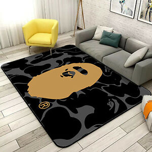 @@BAPE Bathing APE Door Rug Carpet Floor Mat Bedroom Anti-Slip Living Room Home