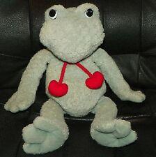 "GUND 12"" Plush Animal Stuffed Frog #1477 STUMPY BeanBottom Hearts Love Valentine"