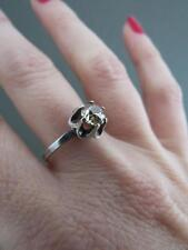 Vintage Russian Silver Citrine Ring