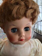 """Vintage Large 23""""  Doll in Wedding Gown - Sleepy Eyes"""