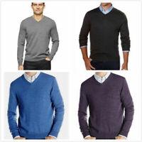 Calvin Klein Men's Extra Fine Merino Wool V-neck Sweater