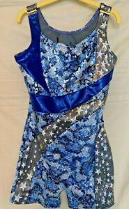 Capezio girls dance/gymnastics costume open back elasticated inner bust panel L