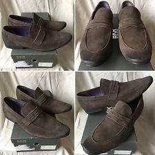 SOLD OUT RARE BROWN BUNKER BKR LEATHER MOCASSINS SHOES CHAUSSURES  B584 SIZE 40