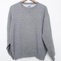 Vintage RUSSELL Tri Blend Crewneck Sweatshirt 80s Gray Mens XL MEDIUM FIT USA