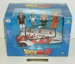 ++ ancien jouet DRAGON BALL Z 4 figurines et voiture de Mr SATAN AB 1989 ++