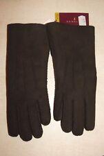 Paire de gants marron en peau d'agneau neuf taille 6.5 étiqueté à 98€ (ch)