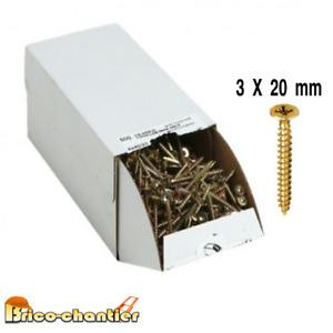 100 Vis a bois agglo 3 x 20 mm visserie en lot