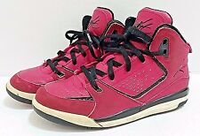 Nike JORDAN Flight SC2 Gym Basketball Shoes Youth 2.5 Cherry Sneaker Red / Pink