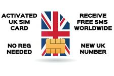UK SIM Card, Activated Receive FREE SMS worldwide, Anonymous no set up needed