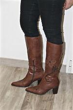 jolies bottes à talons cuir marron zippées BOCAGE pointure 40  NEUVES EN BOITE