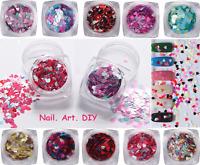 PAILLETTES-forma di Cuore-Multicolore-Nail Art Glitter Sequins-Decorazione Unghi