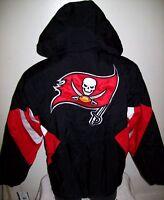 Tampa Bay BUCCANEERS Starter Hooded Half Zip Pullover Jacket S M L XL 2X BLACK