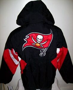 Tampa Bay BUCCANEERS Starter Hooded Half Zip Pullover Jacket S M L XL BLACK