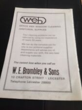 ephemera 1974 Picture Advert W E Brombley & Sons Ltd Cleaners Leicester M47900