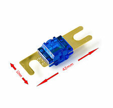 5x Mini Anl fusible 80 A Plaqué Or AUTO VOITURE CAR HIFI bonne protection contre la corrosion