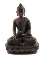Soprammobile Budda Tibetano Dhyani Akshobhya IN Resina Rosso 13.5 CM 3950