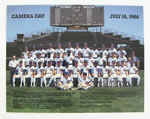 CHICAGO CUBS 1986 CAMERA DAY TEAM 8.5 x 11 PHOTO + LOT OF 6 PLAYER PHOTOS