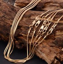18k Italien Gelbgold Poliert Frauen Männer Schlange Halskette Gliederkette WH