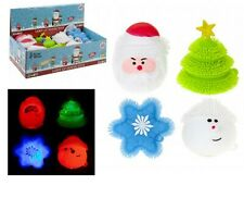 Christmas Lightup Puffer Toys With LEDs Snowman, Santa, Xmas Tree & Snowflake