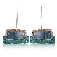 Boho Women Jewelry  Natural Stone Pendant Statement Dangle Drop Earrings New