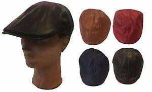 Mens Women IVY Newsboy Duckbill Cabbie  Faux Leather PU Ivy Hat Cap