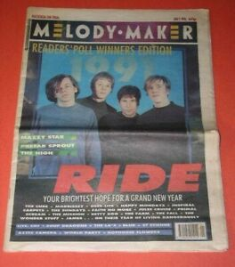 Ride Band Melody Maker Magazine Vintage 1991 Mazzy Star Prefab Sprout