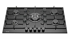 MILLAR GH9051TB 5 Burner Built-in Gas on Glass Hob 90cm - Cast Iron Stands & Wok