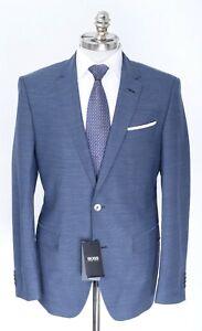 NWT HUGO BOSS Blue Nailhead Wool Notch Lapel Slim Fit Sport Coat 42 R (EU 52)