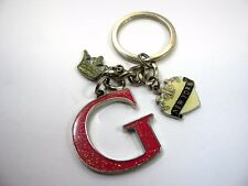 Collectible Keychain: Letter G New York Heart Crown Charm Design