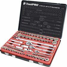 """ToolPRO Socket Set 1/4"""", 3/8"""" & 1/2"""" Drive Metric/SAE 81 Piece"""