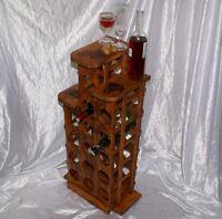 Cantinetta vino porta bottiglie per liquori 15 posti cantina incisione uva