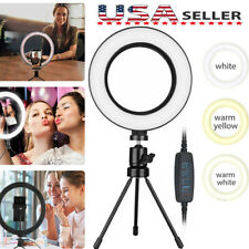 10Led Ring Light Phone Holder Pro Portable Photo Selfie Makeup Tripod Stand