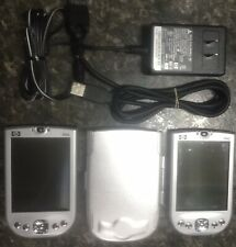 2x Hp iPaq Pocket Pc X11-21204 Personal Digital Assistant With a cord & case