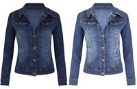 Womens Ladies DENIM JACKET Long Sleeve UK 8 10 12 14 16