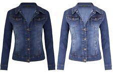Womens Ladies DENIM JACKET Long Sleeve UK 8 10 12 14 16