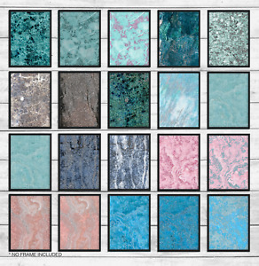 Abstract Fashion marble glitter effect wall art print George decor home print